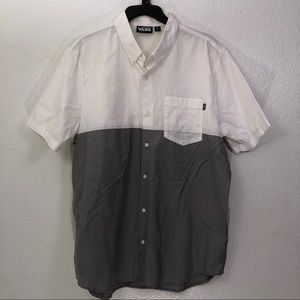 Vans Color block Casual Pocket Button Down Shirt